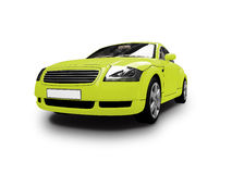 Isolated yellow car front view Stock Images