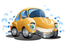 Isolated yellow car wash Royalty Free Stock Photography