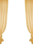 Isolated yellow curtain Stock Images