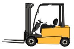 Free Isolated Yellow Forklift Illustration Stock Photo - 7130470