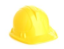 Isolated yellow helmet Royalty Free Stock Photography