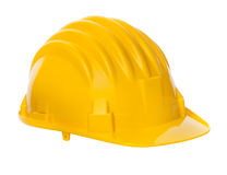 Isolated yellow helmet Royalty Free Stock Images