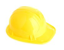 Isolated yellow helmet Stock Images