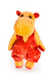 Isolated yellow hippo toy Royalty Free Stock Images