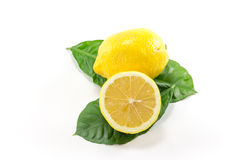 Isolated Yellow lemon Royalty Free Stock Photo