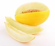 Isolated yellow melon Royalty Free Stock Photos