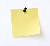 Isolated yellow note Stock Photos