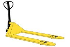 Isolated yellow palletjack illustration Royalty Free Stock Photo