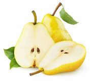 Isolated yellow pears Royalty Free Stock Photos