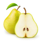 Isolated yellow pears Royalty Free Stock Images