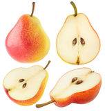 Isolated Yellow Pink Pears Stock Images