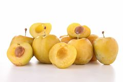 Isolated yellow plum Stock Image