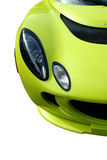Isolated yellow sports car Stock Photos