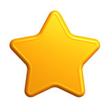 Isolated yellow star Stock Photos