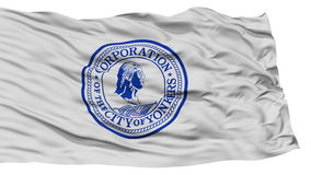 Isolated Yonkers City Flag, United States of America Royalty Free Stock Photo