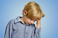 Isolated young boy royalty free stock images