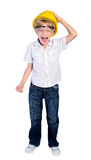 Isolated young boy Stock Photo