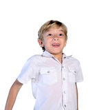 Isolated young boy Royalty Free Stock Photography