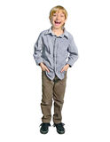 Isolated young boy Stock Images