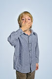 Isolated young boy Royalty Free Stock Photos