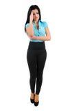 Isolated business girl Stock Image