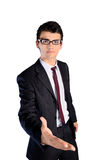 Isolated young business man Stock Images
