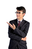 Isolated young business man Royalty Free Stock Images