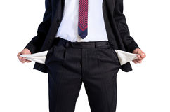 Isolated young business man Stock Photo