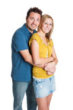 Isolated Young Couple royalty free stock photography