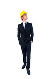 Isolated young worker Royalty Free Stock Photo