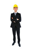 Isolated young worker Royalty Free Stock Image