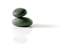 Isolated zen rocks Royalty Free Stock Photo