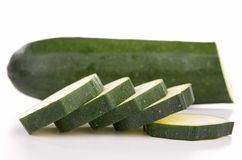 Isolated zucchini Stock Images