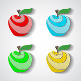 IsolatedApple. Colored isolated apples for your design. Vector illustration. 10 EPS Stock Photo