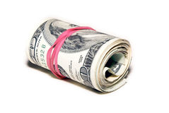 Isolatedbank roll Royalty Free Stock Images