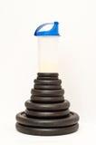 isolaten весы трасучки протеина белые Стоковые Изображения RF