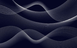 Isolates abstract dark blue color wavy lines background, curves backdrop vector illustration Royalty Free Stock Photo