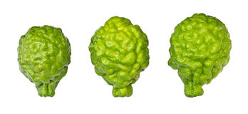 Isolates of bergamot three Stock Photography