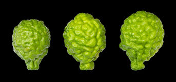 Isolates of bergamot three Royalty Free Stock Photos