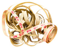 Isolates old Measure Tape. Royalty Free Stock Photos