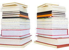 Isolates of several books. Royalty Free Stock Photo
