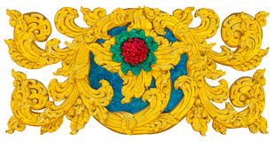 Isolates stucco art crafts. Of Thailand beautiful golden exotic royalty free stock photography