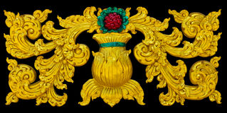 Isolates stucco art crafts. Of Thailand beautiful golden exotic royalty free stock images