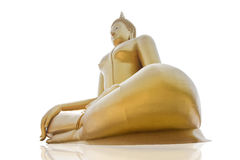 Isolates the upper side of the siting Buddha. Stock Photography