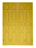 Isolates yellow doors Stock Photo