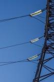 Isolateur électrique sur les fils Photo stock
