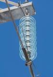 Isolateur de ligne électrique Images libres de droits