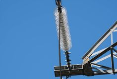 Isolateur de pylône de l'électricité Images stock