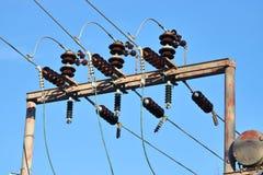 Isolateurs électriques industriels de résine époxyde Images libres de droits