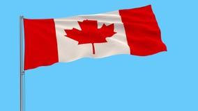 Isolatflagga av Kanada, 4k prores längd i fot räknat, alfabetiskstordia royaltyfri illustrationer